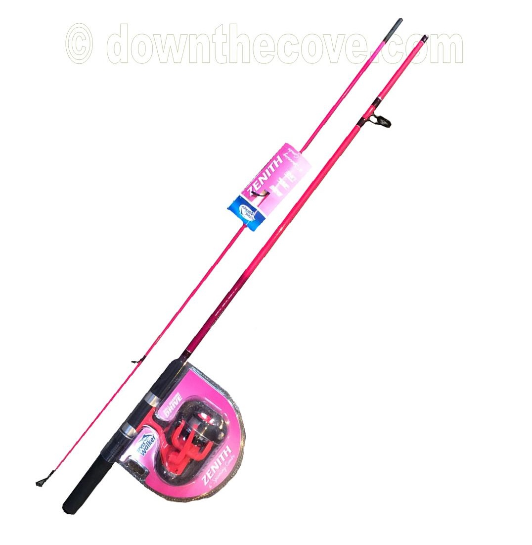 Jarvis walker zenith 6 39 bright pink girls fishing rod for Pink fishing rods
