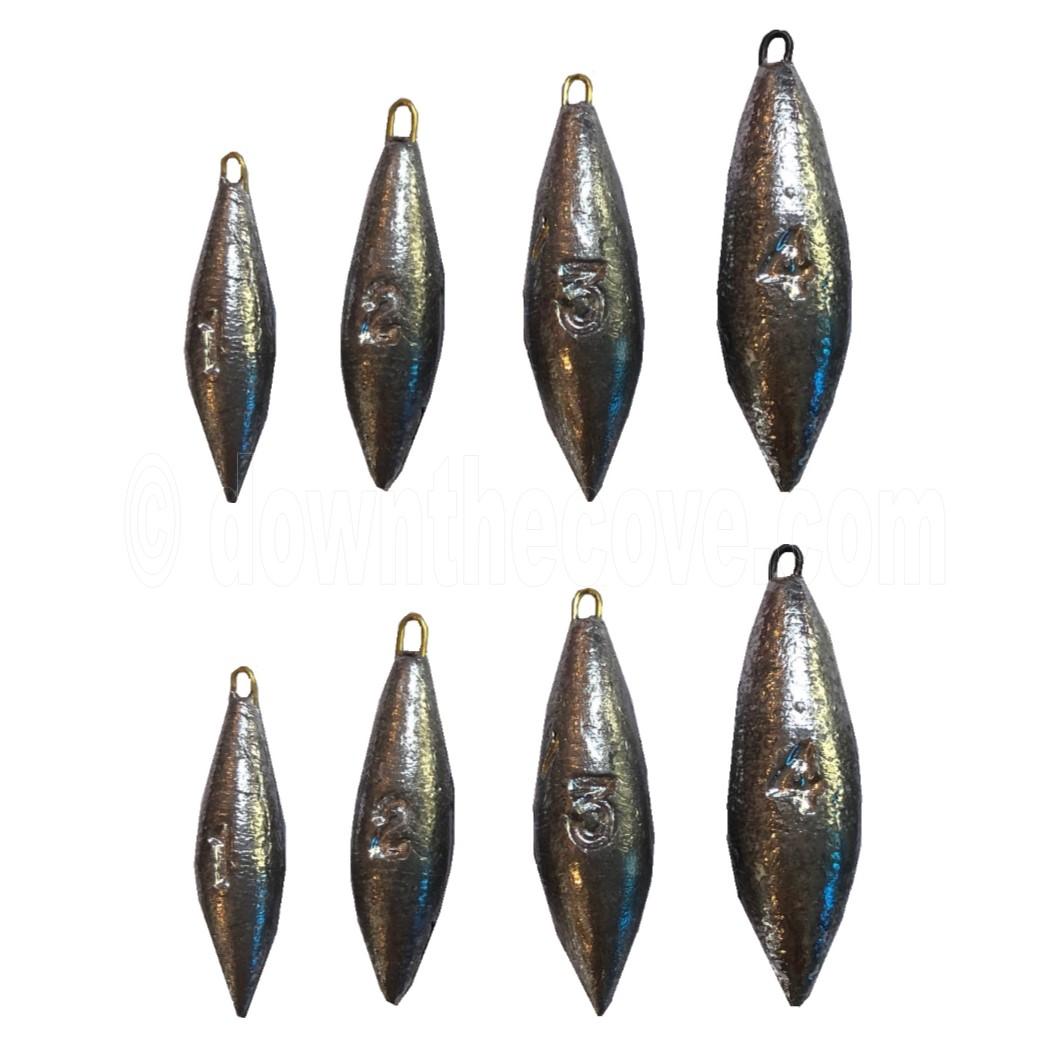 6 x 3oz and 4 x 2oz SEA FISHING WEIGHTS BEACH BOMBS